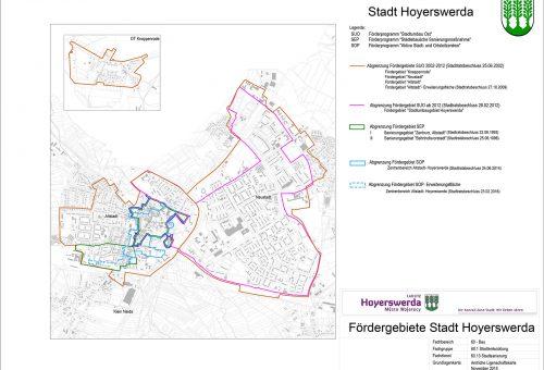 Übersicht Fördergebiete Hoyerswerda