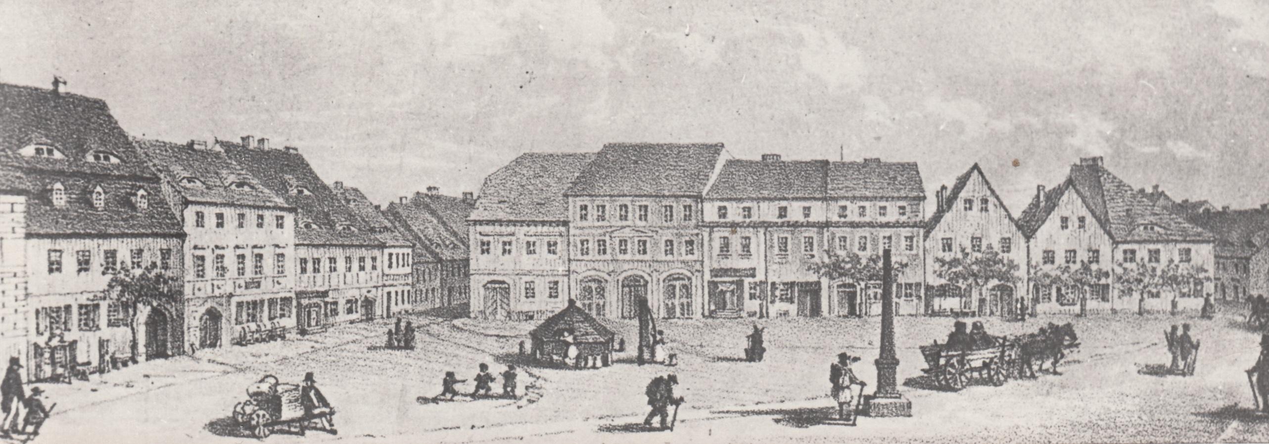 Marktplatz um 1840