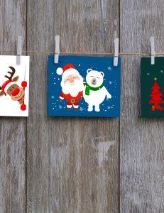 Adventsprogramm: Weihnachtskarten selbst gestalten