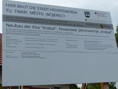 Spatenstich Kita-Neubau im Ortsteil Schwarzkollm