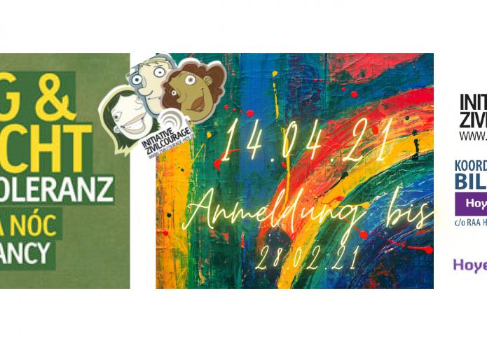 """Bild zum Aufruf """"Tag und Nacht für Toleranz"""" 2021"""