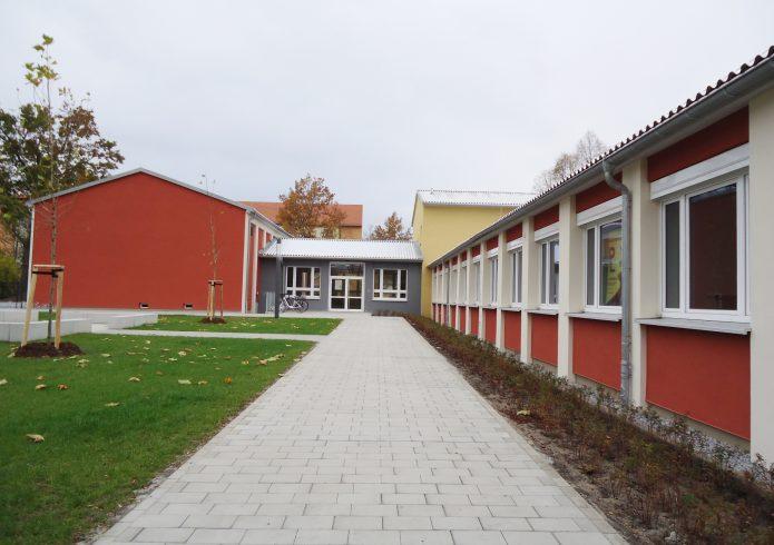 Neue Oberschule östlich der Aula nachher 2020