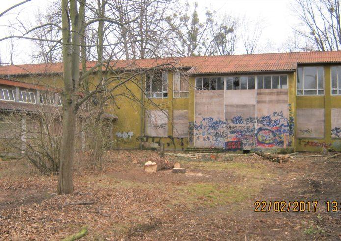 Neue Oberschule nördlicher Innenhof vorher 2017