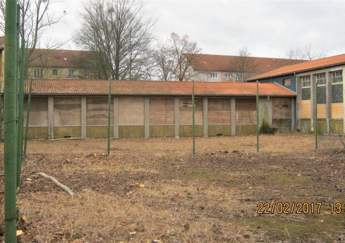 Neue Oberschule südlich der Turnhalle vorher 2017