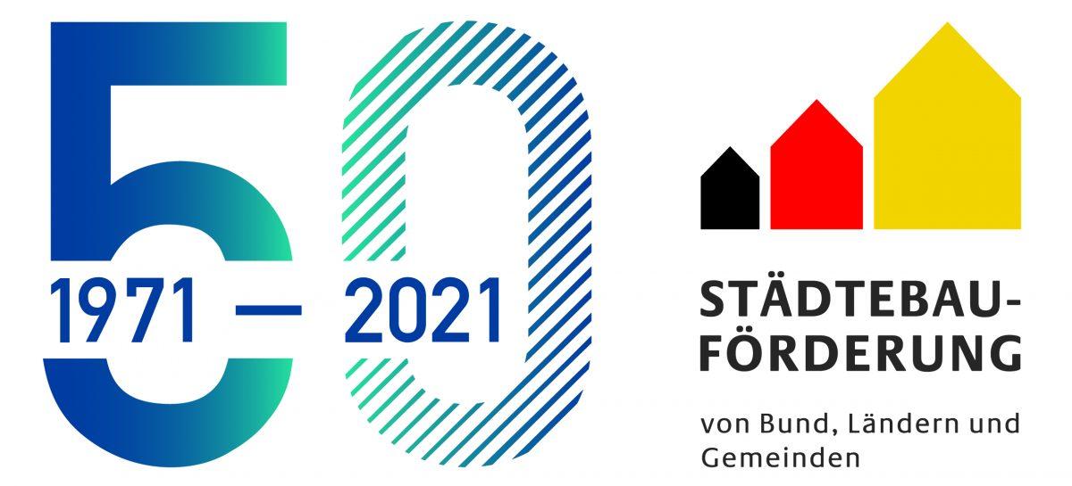 Logo 50 Jahre Städtebauförderung