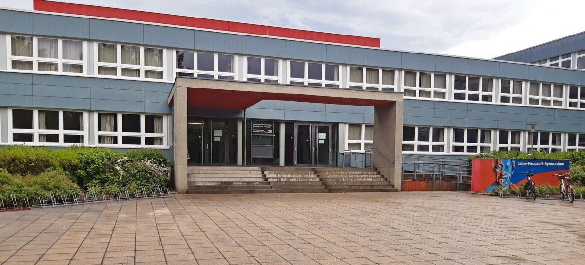 Foucault-Gymnasium im Mai 2021