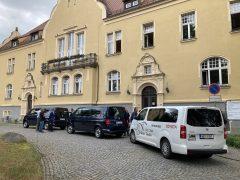 Ankunft der tschechischen Delegation am Neuen Rathaus