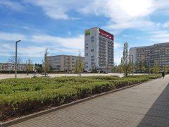 Blick auf Lausitztower vom Lausitz-Center