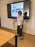 Daniela Fünfstück präsentiert einen Film mit den WM-Auftritten.