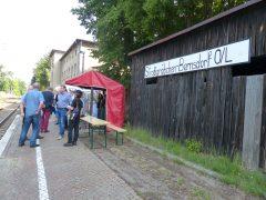 Bahnhof Straßgräbchen-Bernsdorf am Samstagvormittag um 10:00 Uhr