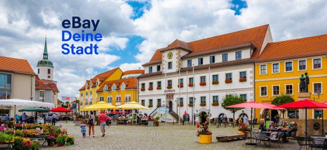 Blick auf Rathaus und Markt (Bild für ebay Deine Stadt)